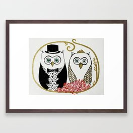 Owls Wedding Framed Art Print
