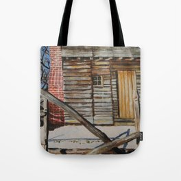Cabin with Holy Leaves Tote Bag
