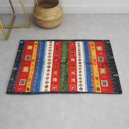 N35 - Bohemain Colored Moroccan Traditional Andalusian Artwork. Rug