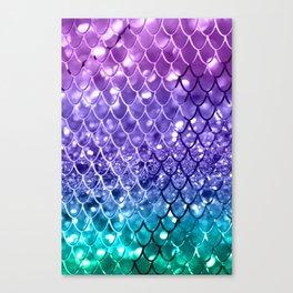 Mermaid Scales on Unicorn Girls Glitter #19 #shiny #decor #art #society6 Canvas Print