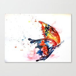 Corolful Butterfly of Life Canvas Print