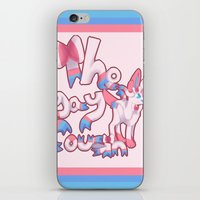 sylveon iPhone & iPod Skins featuring Sylveon: the gay cousin. by Supernerdo13