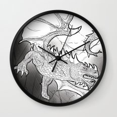 Black Dragon Wall Clock