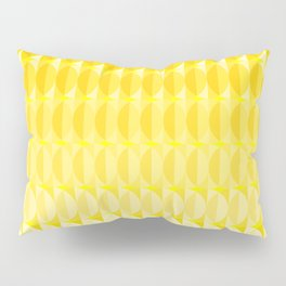 Leaves in the sunlight - a pattern in yellow Pillow Sham