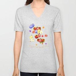 Watercolor Tutti Frutti Unisex V-Neck