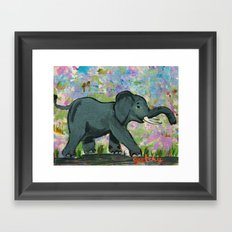 Baby Elephant Framed Art Print