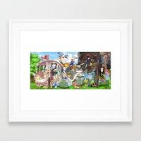 ghibli Framed Art Prints featuring Ghibli Tribute by Hyung86