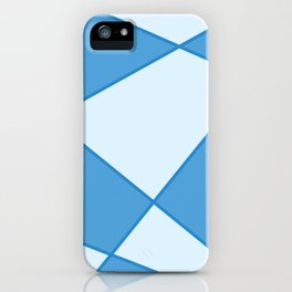 Geometric abstract - blue. iPhone Case