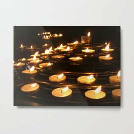 Joan of Arc's Candles Metal Print