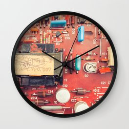 Electronic circuit board Wall Clock