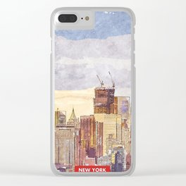 New York city skyline Clear iPhone Case