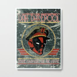 Dan Darepool: Insane Ninja-Merc of the Future Metal Print