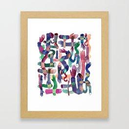 Color Hands Framed Art Print