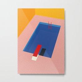 Backyard Pool Metal Print