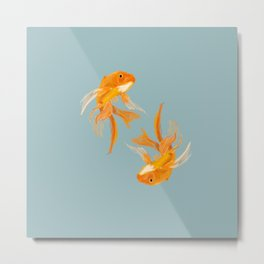 Fishy Business (Blue) Metal Print