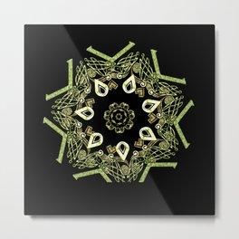 Celtic Star Pattern Metal Print