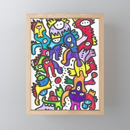 Street Art Felt Pen Graffiti  Framed Mini Art Print