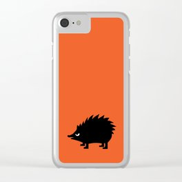 Angry Animals: hedgehog Clear iPhone Case