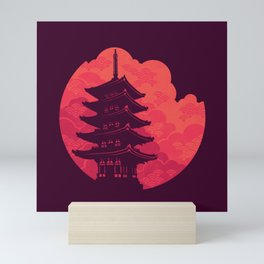 Pagoda Sunset Mini Art Print