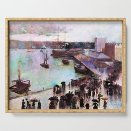 Charles Edward Conder - Departure of the Orient - Circular Quay - Digital Remastered Edition Serving Tray
