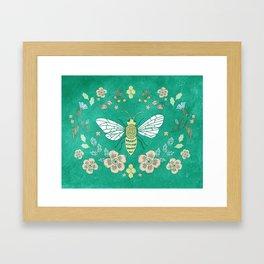 Bee Garden Framed Art Print
