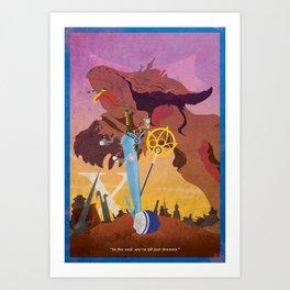 Vintage FF Poster X Art Print