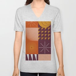 Abstract Geometric Composition 036 Unisex V-Neck