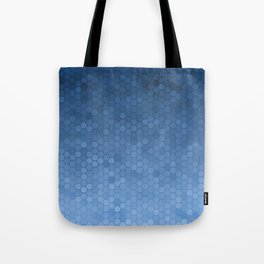 Blue Hexagons Tote Bag