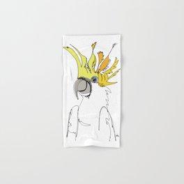 Yellow Crested Cockatoo Hand & Bath Towel