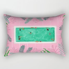 Pink riad pool Rectangular Pillow