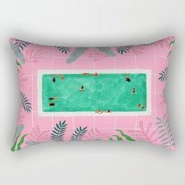 Pink riad pool Rectangular Pillow