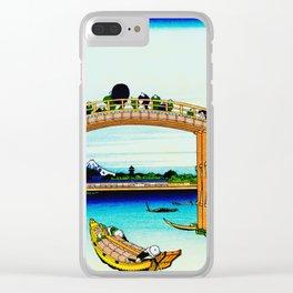 Mannen Bridge and Mount Fuji Clear iPhone Case