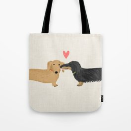 Dachshunds Love Tote Bag
