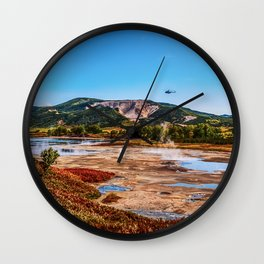 Bear Resort: Caldera Uzon Wall Clock