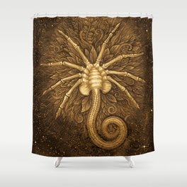 Facehugger (Sepia) Shower Curtain