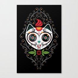 Sugarskull Cat Canvas Print