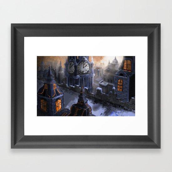 Clock Tower Framed Art Print