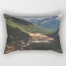 Climbing Independence Pass Rectangular Pillow