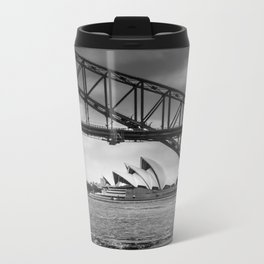 Bridge's, Bird's and Opera Houses Metal Travel Mug