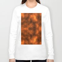 gold foil Long Sleeve T-shirts featuring Gold Foil Texture 6 by Robin Curtiss