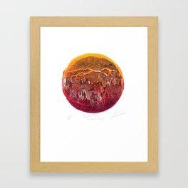 Firefighter Below the Sea of Smog Framed Art Print