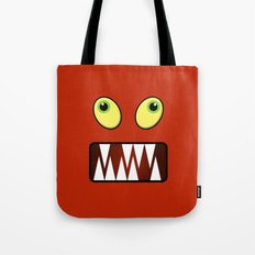 Funny monster face Tote Bag