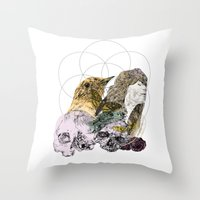 sacred geometry Throw Pillows featuring Sacred by Ashley Payne