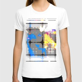 glitch abstract T-shirt