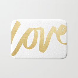 Love Gold White Type Bath Mat