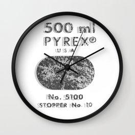 Laboratory Glass Graphic Wall Clock