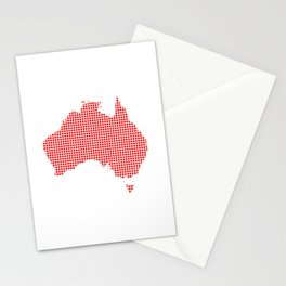 Red Dot Map of Australia Stationery Cards