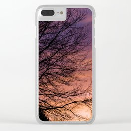 Sunsets and Silhouettes #1 Clear iPhone Case