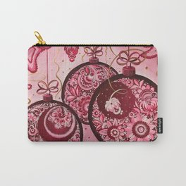 Winter holidays decorations in petrykivka style Carry-All Pouch