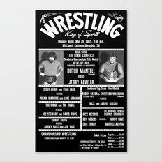 #16-B Memphis Wrestling Window Card Canvas Print